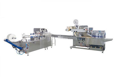 便携对折湿巾生产线_湿巾包装流水线_胜龙全自动湿巾机SL-2545Y型